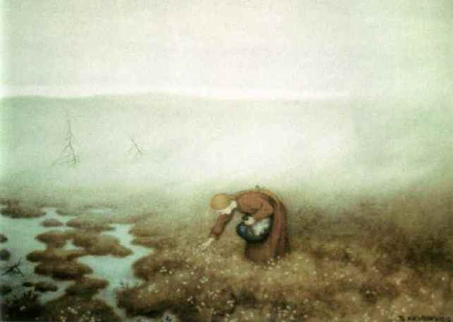 Theodor-Kittelsen-The-Princess-Gathering-Cotton-Grass